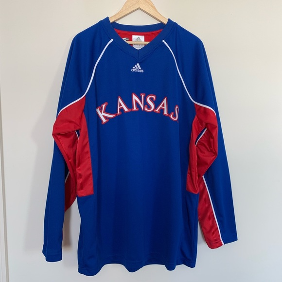 new product 65ea9 5beea Adidas Men's Kansas Jayhawks Basketball Jersey
